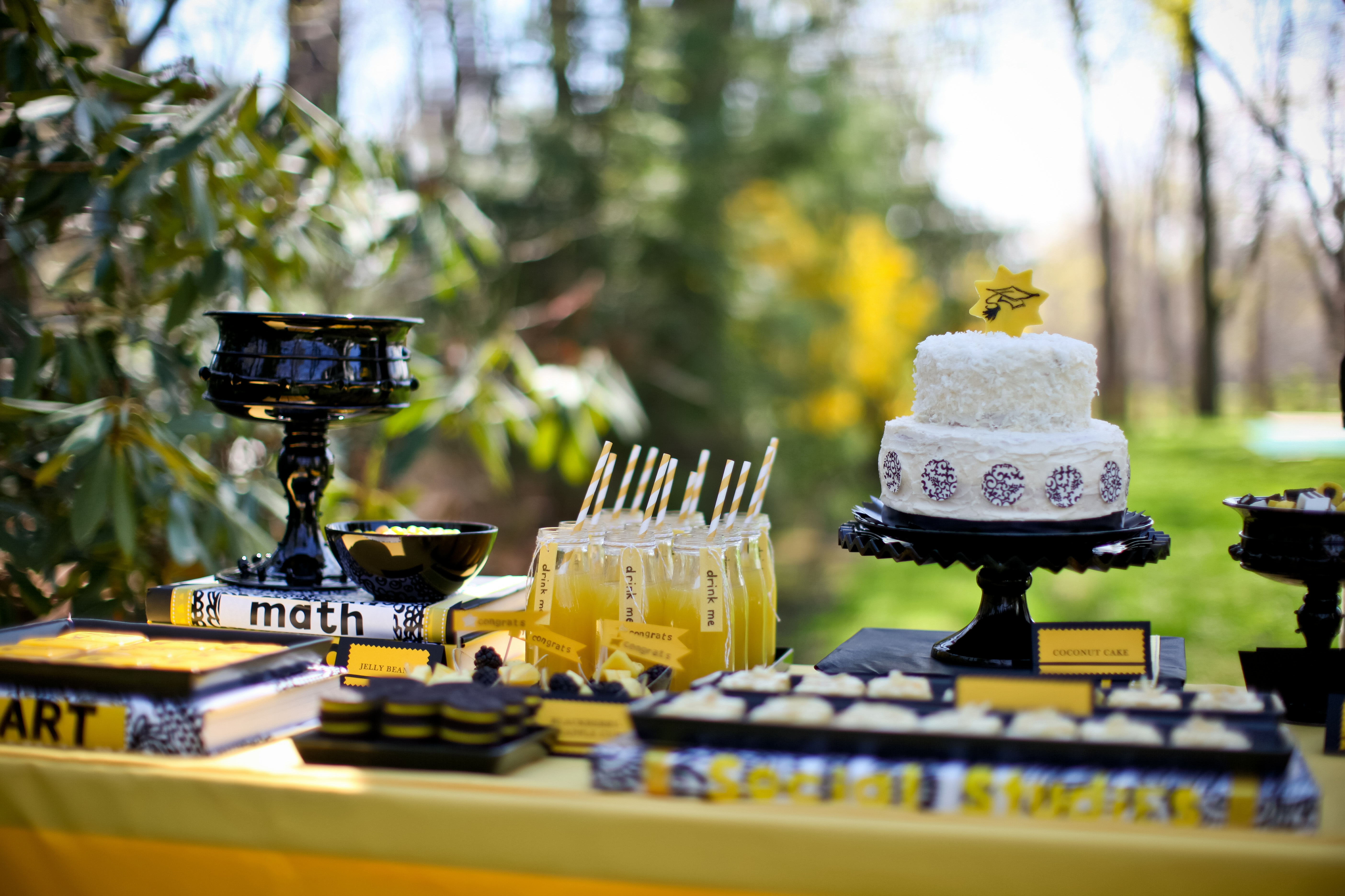 Graduation Party Sweet Tablescapes