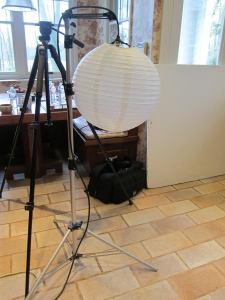 Behind the scenes pics: a creative way to dim the light!