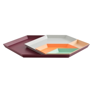 The geometric shapes of the Kaleido Trays from A+R Store are phenomenal!