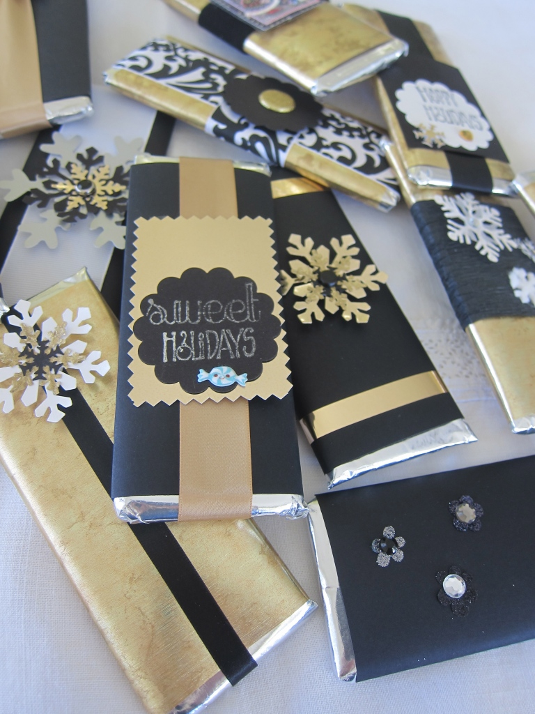 Mini Hershey Bars, wrapped in custom colors...perfect givaways!
