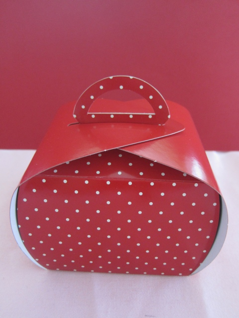 Cute Polka Dot Gable Box filled with...your heart's content, of course!!