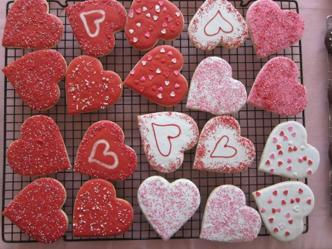 Iced Sugar Hearts