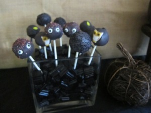Weird, black cakepops...