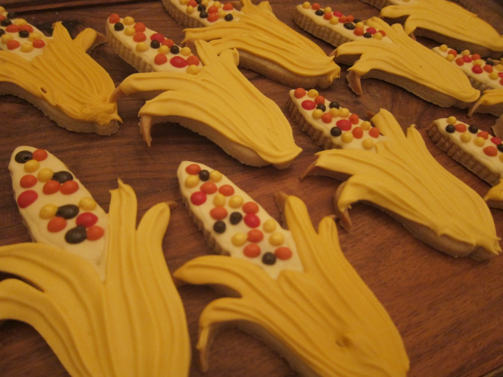 Colorful Corn (we used this adorable cookie cutter from Cheap Cookie Cutters