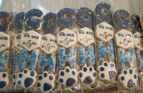 Wedding favors for a couple who met at Penn State