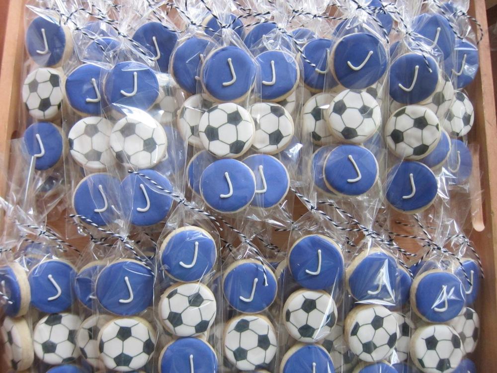 Bat Mitzvah cookies for a Soccer fan!