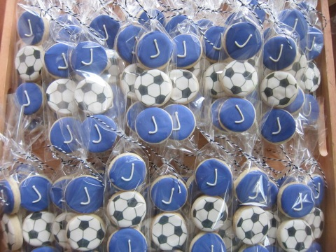 Bat Mitzvah cookies for a Soccer fan!